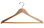 Flat Wood Shirt/Blouse Hanger