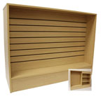 Economy Wrap Counter with Slat Wall Front - 48