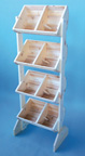 4 Bin Display with 4 Adjustable Dividers - 311