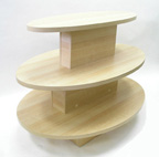 3 Tier Oval Clothing Table - 3TV