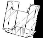 Literature Rack for Wall Mount - 8 1/2in. x 11in. - 4115E