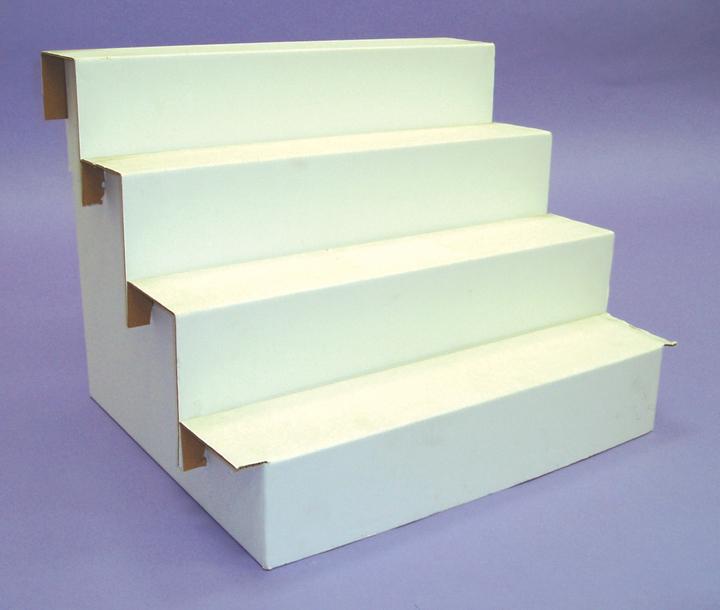 Cardboard Risers - 4 Step 4STR | Gershel Brothers