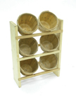 6 Basket Vertical Counter Rack - 7782