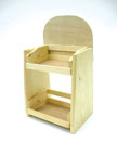 Wooden Counter Display with two levels - 7813
