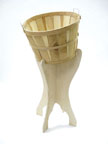 Sloping Bushel Basket Display Stand - 7825