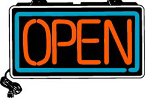 OPEN Electric Window Sign