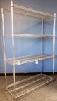 Used Chrome Wire Shelving Unit - 4 Shelves - 48 in. W x 18 in. D x 72 in. H - UWSAZ