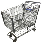 Used Metal Shopping Cart in Rough Condition - Light Grey - USCLG