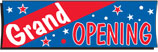 3' x 10' GRAND OPENING Banner - BCP310