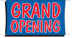 3' x 5' GRAND OPENING Banner - BCP35