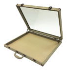 Burlap Glass-Top Display Case - BLLGT3