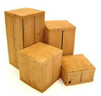 4 Piece Wood Square Pedestal Set 12in. x 12in.