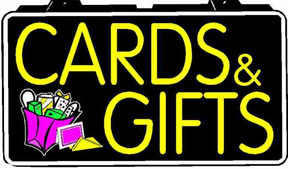 Cards \u0026 Gifts Electric Window Sign TECCARD | Gershel Brothers