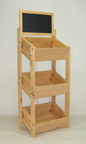 3 Tier Crate Display with Chalkboard - CD3
