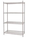 Wire Shelf Kit - 18in.D x 36in.L x 72in.H - WK613