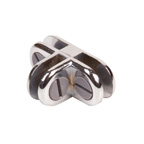 3 Way Chrome Metal Connector - CON3