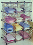 12 Bin Wire Cube System (14in. x 14in. Squares)