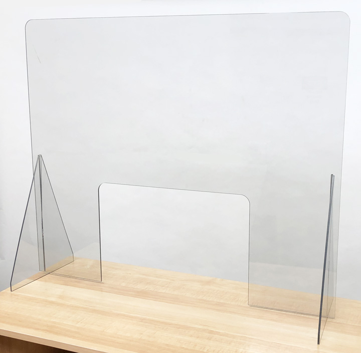 Desk Barrier with Window - DBW30