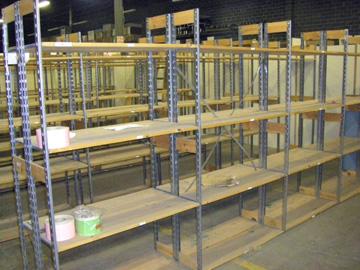 Used Excalibur Stockroom Shelving Starter Section