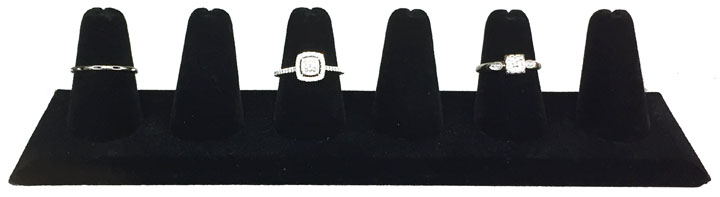 Ring Display with 6 Fingers