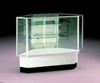 Back Opening Corner Full Vision Display Case - FV34P