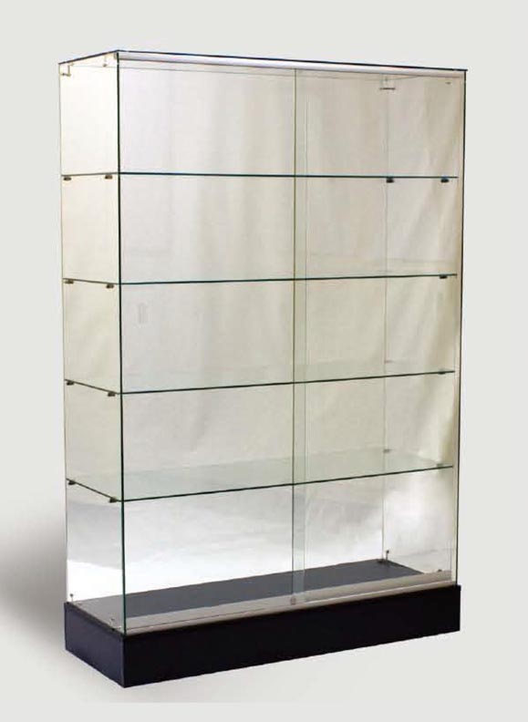 Glass Display Cabinet Showcases: All Glass Full Vision Wall Case FWC4