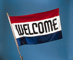 Welcome Promotional Flag - FWE35