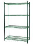Wire Shelf Kit - 18in.D x 48in.L x 72in.H - WK614