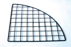 Plastic Coated Wire Quarter Round Grid Panels - Black - GSRB
