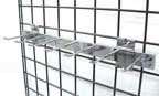 7-Hook Chrome Gridwall Belt & Tie Rack - GWB