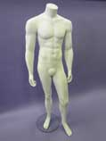 Headless Male Mannequin - White - HM1W