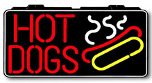 Hot Dogs Electric Window Sign