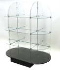 Oval Glass Etagere - JNE1