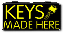 Keys Made Here Electric Window Sign