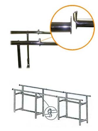 Tandem Rails for Rectangle Rack - KH1
