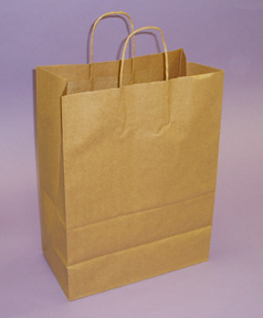 Kraft Shopping Bags 17 1/2in.H x 13in.W x 7in.D - KSB13N