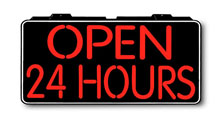 Open 24 Hours Electric Window Sign