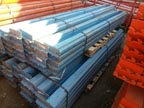 Used Republic Style Blue Pallet Rack Beams - UREPBLUEBM