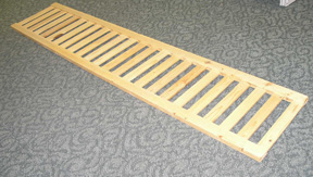Home Floor Displays Wood Slat Shelf
