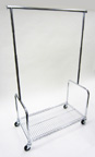 Rolling Rack with Bottom Shelf - RBR1