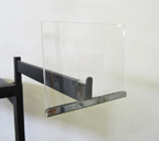 5in. x 7in. Acrylic Signholder for Rectangular Rail - RE57