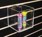 Acrylic Cubes Fits Standard Slatwall 5in.x 5in.x5 1/2in.