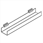 Slatwall J-Rack Shelf with Flat Bottom - 24