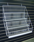 Sturdy Wire Literature Holder for Slatwall or Pegboard 3 Levels - SWL3