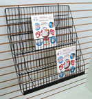 Sturdy Wire Literature Holder for Slatwall or Pegboard 4 Level - SWL4