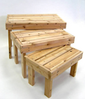 3 pc All Knotty Pine Heavy Duty Table Risers - T123
