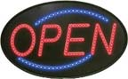 LED Large Oval Open Sign