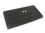 Flocked Tray Liner for Earrings - Black - TL38B