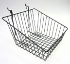Universal Wire Sloped Front Basket - 12 in. x 12 in. x 8 in. - UB14