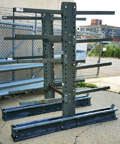 Used Cantilever Rack Double Sided, Medium Duty, 44in.W x 82in.D x 7'H - UCANT